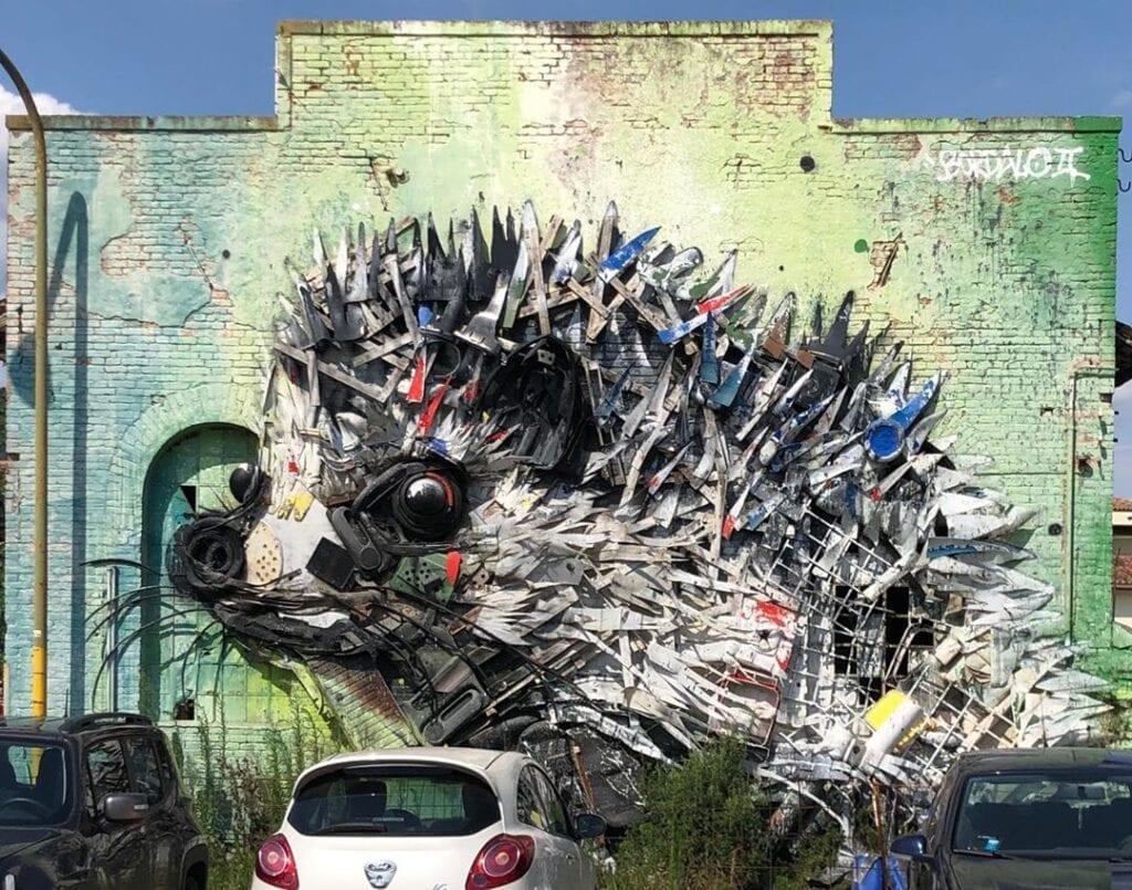 Urban art e natura sulle medianeras - Bordalo II