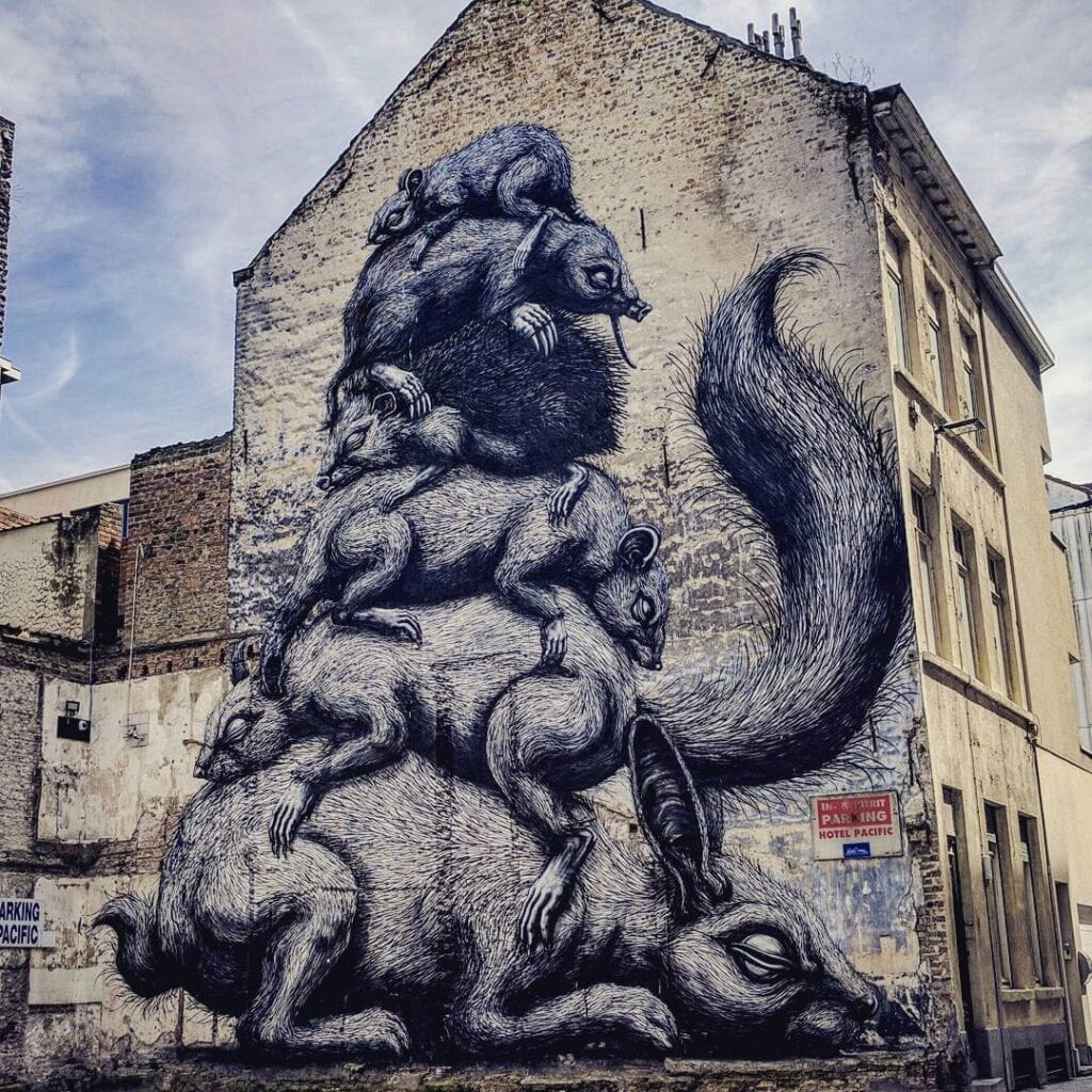 Urban art e natura sulle medianeras - ROA